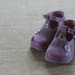Première paire de chaussure (vue de face)