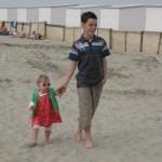 Lucie fait sa star sur la plage