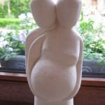 Bruno m'a offert cette statuette au début de la grossesse